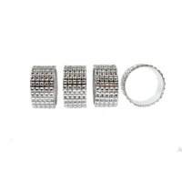 Servettring med Strass 4-pack
