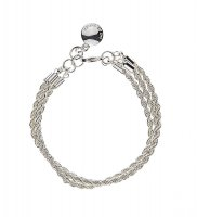 Hege 3-String Armband - Silver