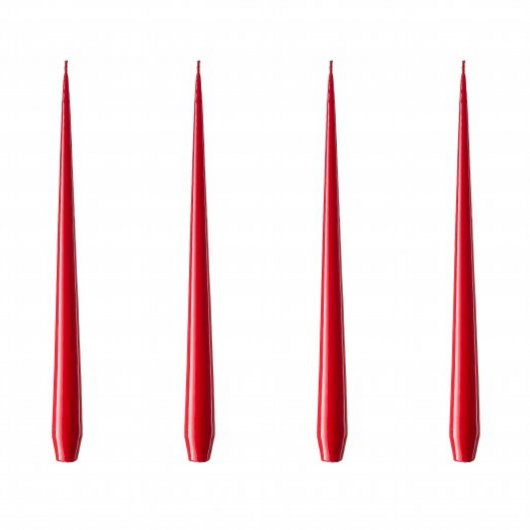 Lackad X-mas Red  42 cm - 4-pack